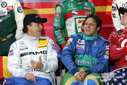 Jean Alesi and Felipe Massa have fun