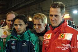 Armin Schwarz, Felipe Massa, Kenny Brack y Michael Schumacher