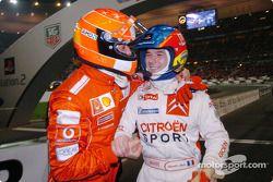 Michael Schumacher y Sébastien Loeb