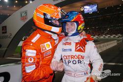 Michael Schumacher et Sébastien Loeb