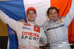 Les vainqueurs de la Nations Cup 2004 : Jean Alesi et Sébastien Loeb de Team France 1