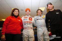 Jean Alesi y Sébastien Loeb, del Team France 1, ganadores de la Copa de Naciones 2004 con Fredrik Johnsson