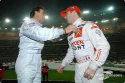 Los ganadores de la Copa de Naciones 2004, Jean Alesi y Sébastien Loeb de Team France 1