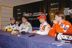 Conferencia de prensa: Heikki Kovalainen, Jean Alesi, Sébastien Loeb y Marcus Gronholm