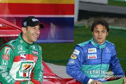 Equipo de Brasil: Tony Kanaan y Felipe Massa.
