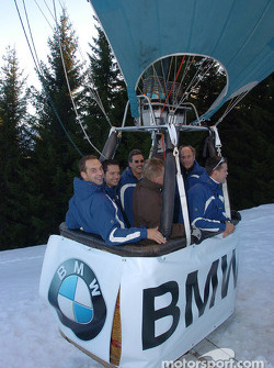Jorg Muller, Hans Stuck, Dirk Muller, Andy Priaulx and Dr Mario Theissen