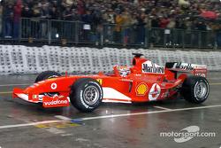 Andrea Bertolini drives the Ferrari F2004