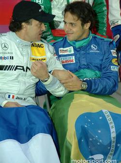 Jean Alesi y Felipe Massa
