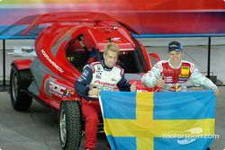 Equipo de Suecia: Kenny Brack y Mattias Ekström