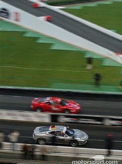 Semi-final: Michael Schumacher and Sébastien Bourdais