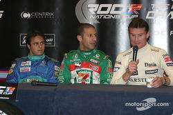 Conferencia de prensa: Felipe Massa, Tony Kanaan y David Coulthard
