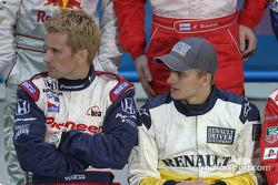 Kenny Brack y Heikki Kovalainen