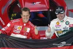 Equipo de Alemania: Michael Schumacher y Armin Schwarz.