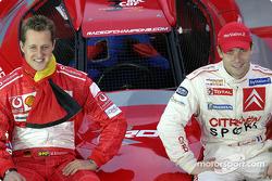Dos campeones del mundo en 2004: Michael Schumacher en F1 y Sébastien Loeb en WRC