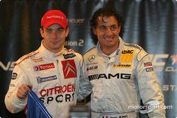 Los ganadores de la Copa de Naciones 2004, Jean Alesi y Sébastien Loeb de equipo Francia 1