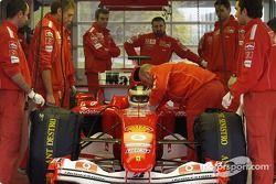 Carlos Reutemann tests the Ferrari F2004