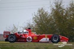 Carlos Reutemann tests the Ferrari F2004