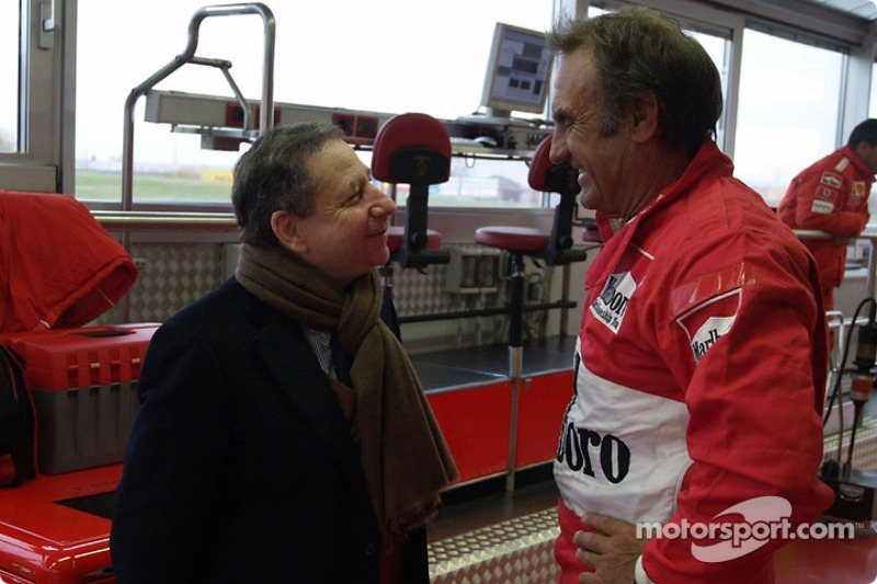Carlos Reutemann y Jean Todt