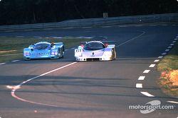 #61 Team Sauber Mercedes Sauber-Mercedes C9: Mauro Baldi, Kenny Acheson, Gianfranco Brancatelli pass