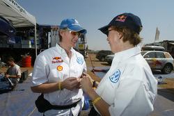 Volkswagen team presentation: Volkswagen works driver Jutta Kleinschmidt with co-driver Fabrizia Pons