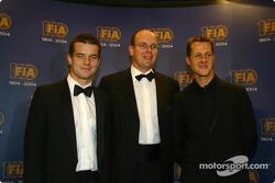 Sébastien Loeb, Prince Albert of Monaco and Michael Schumacher