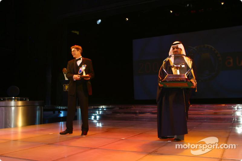 TV: John Morrison, FOM, and Promoter: Shaikh Fawaz Bin Mohammed Al Khalifa, Bahrain International Ci