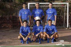 Giancarlo Fisichella, Flavio Briatore ve Fernando Alonso play football