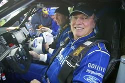 Jean-Louis Schlesser et François Borsotto testent le buggy Schlesser-Ford Raid