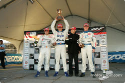 GT500 podium: race winners Tsugio Matsuda and Andre Lotterer, with James Courtney and Sebastien Phil