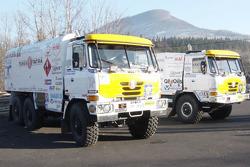 Loprais Tatra presentation: Karel Loprais with his Loprais Tatra Puma Evo III T815 truck
