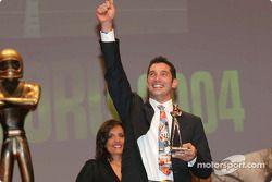 Max Papis receives the Caschi D'Oro award