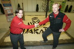 Nissan Rally Raid Team presentation: driver Ari Vatanen with co-driver Tiziano Siviero