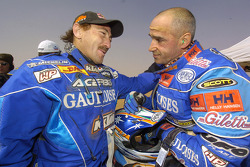 Alfie Cox y Fabrizio Meoni