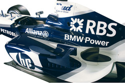Detail of the new livery of the BMW WilliamsF1