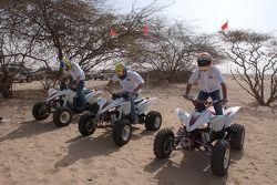 Antonio Pizzonia, Mark Webber ve Nick Heidfeld, quad bikes