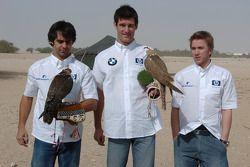 Antonio Pizzonia, Mark Webber ve Nick Heidfeld ve falcons