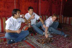 Antonio Pizzonia, Mark Webber ve Nick Heidfeld