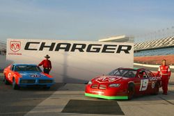 Dodge presentation: Richard Petty and his 1970s-era Dodge Charger with Jeremy Mayfield and his 2005