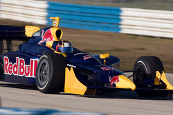 Patrick Carpentier tests the Red Bull Cheever Toyota Dallara