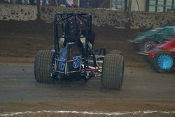 Bryan Clauson's car sits sidways in corner 2