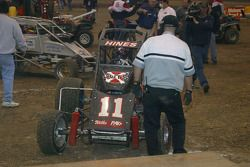 Tracy Hines pulls into Victory Lane
