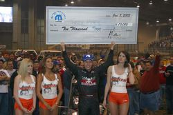 Tracy Hines with the winner's check