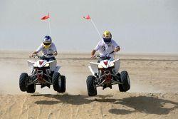 Mark Webber ve Nick Heidfeld, quad bikes