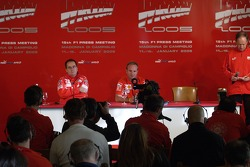 Press conference: Luca Badoer with Luca Colajanni