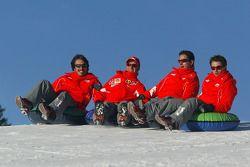 Rubens Barrichello and friends