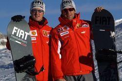 Michael Schumacher and Luca Badoer