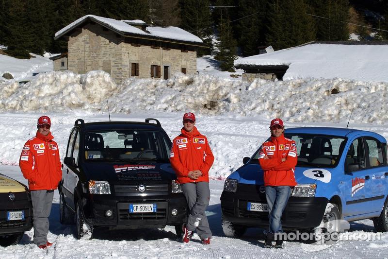 Fiat Panda race: Rubens Barrichello, Michael Schumacher ve Luca Badoer
