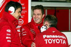 Ralf Schumacher with Dieter Gass and Mike Gascoyne