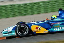 Фелипе Масса тестирует новый Sauber Petronas C24