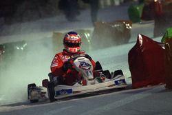 Kart race on ice: Rubens Barrichello